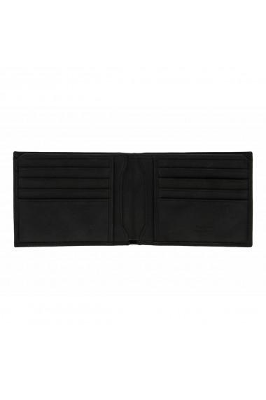 Portofel slim din piele neagra Tony Bellucci pentru barbati model T138-01