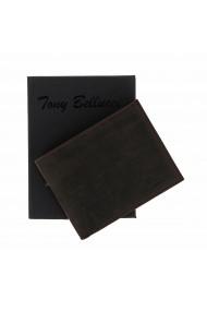 Portofel slim din piele maro ruginiu Tony Bellucci pentru barbati model T138-07