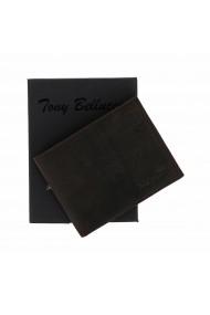 Portofel slim din piele maro inchis Tony Bellucci pentru barbati model T138