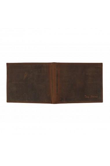 Portofel slim din piele maro coniac Tony Bellucci pentru barbati model T138-07
