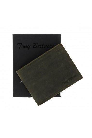 Portofel din piele kaki Tony Bellucci pentru barbati model T139-05