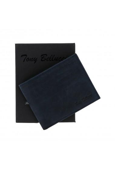 Portofel din piele bleumarin Tony Bellucci pentru barbati model T139-03
