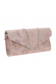 Plic elegant roz pudra abstract din piele intoarsa model 08