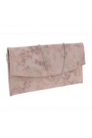 Plic de ocazie roz pudra din piele intoarsa tip abstract