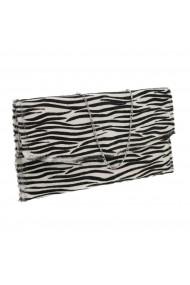 Plic de ocazie model new zebra din piele naturala cu par