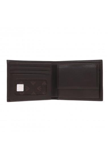 Portofel din piele fina maro inchis Eminsa pentru barbati model 1020