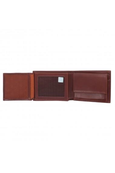 Portofel din piele fina maro coniac Eminsa pentru barbati model 1014