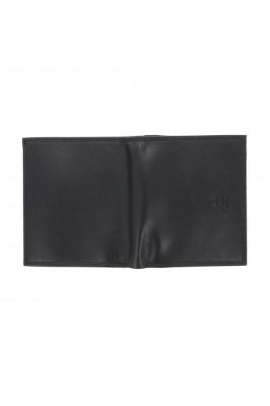 Portofel din piele neagra Valentini pentru barbati model 255