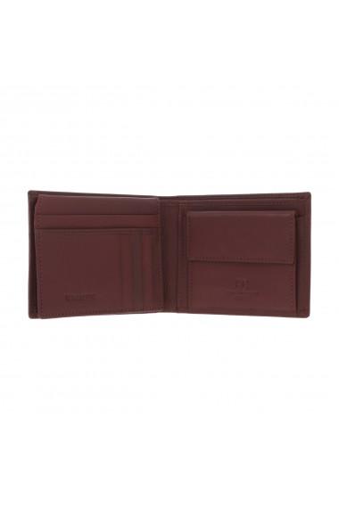 Portofel din piele maro Coveri pentru barbati model 292