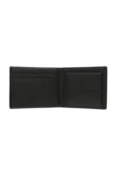 Portofel din piele neagra Coveri pentru barbati model 292