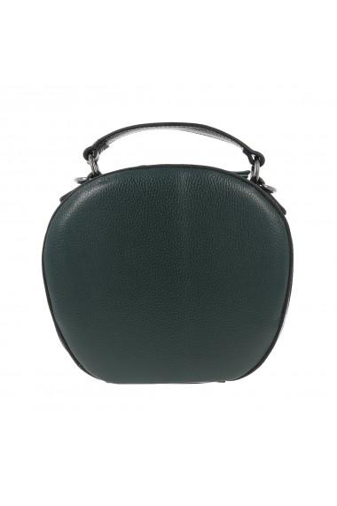 Geanta de mana si umar din piele naturala verde model Tony Bellucci T2504