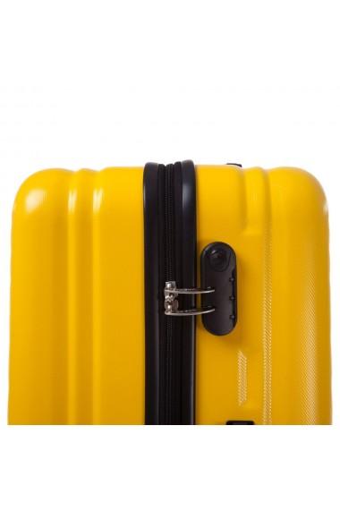 Troler mare FANTASY galben cu negru 77 cm