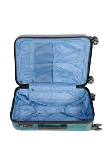 Troler mare REGAL albastru turcoaz 76 cm