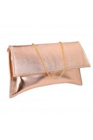 Plic auriu elegant din piele naturala model trapez