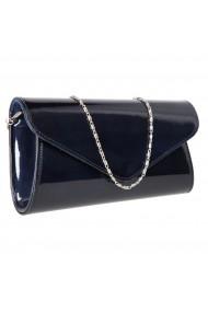 Plic elegant bleumarin inchis din piele saffiano lac model 08