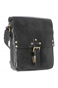Borseta tip geanta de umar din piele naturala neagra model Tony Bellucci T5130