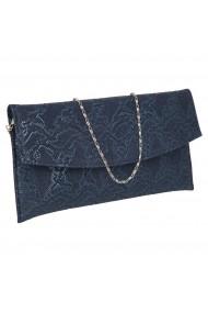 Plic elegant bleumarin din piele naturala texturata