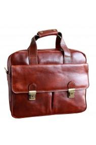 Geanta pentru laptop din piele vachetta maro coniac model 4575
