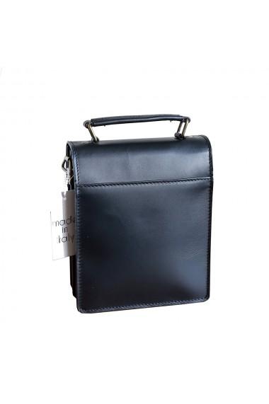Borseta office din piele neagra model B101