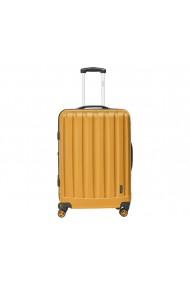 Troler mare Packenger Velvet galben mustar 72 cm