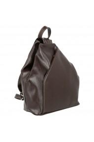 Rucsac/geanta din piele naturala moale maro model 133