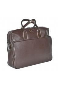 Geanta pentru laptop tableta si acte din piele maro marca The Bond model 1084