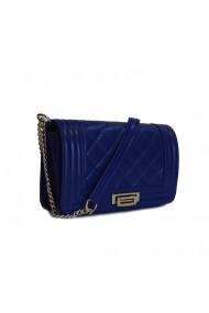 Poseta tip Chanel piele albastru imperial