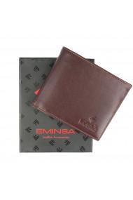 Portofel maro din piele naturala marca Eminsa cod 1021