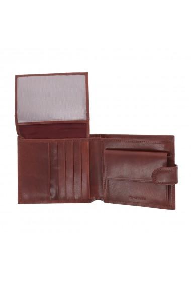 Portofel din piele maro coniac Valentini pentru barbati model 298