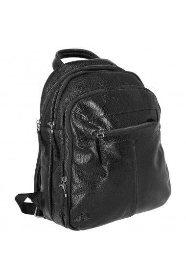 Rucsac negru cu trei compartimente model Tony Bellucci T5116