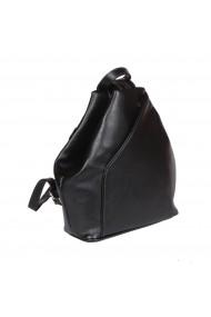 Rucsac/geanta din piele naturala moale neagra model 133