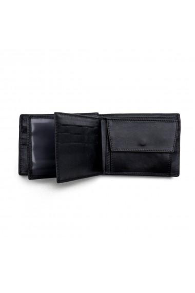 Portofel din piele pentru barbati negru nappa S105