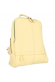 Rucsac Tony Bellucci galben vanilie din piele naturala model T061