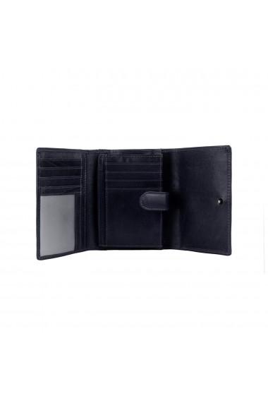 Portofel The Chesterfield Brand cu protectie anti scanare RFID din piele naturala bleumarin Avery
