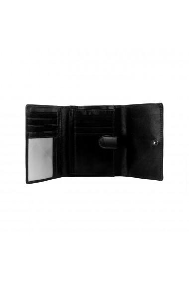 Portofel The Chesterfield Brand cu protectie anti scanare RFID din piele naturala neagra Avery