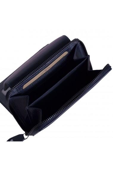 Portofel The Chesterfield Brand cu protectie anti scanare RFID din piele naturala moale bleumarin Shannon