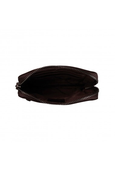 Portofel multifunctional The Chesterfield Brand cu protectie anti scanare RFID din piele naturala moale maro Nina