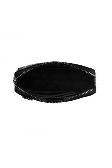Portofel multifunctional The Chesterfield Brand cu protectie anti scanare RFID din piele naturala moale neagra Jane