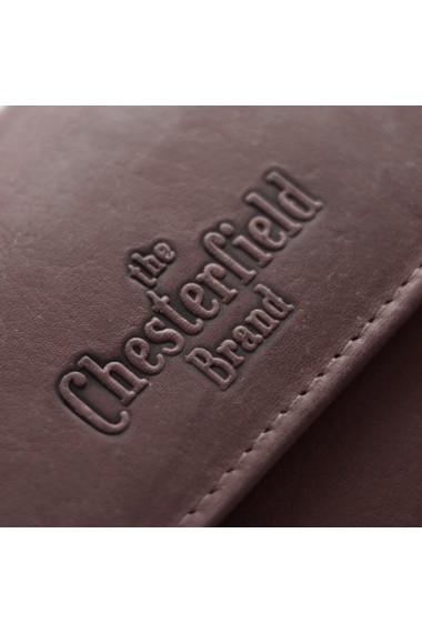 Portofel The Chesterfield Brand cu protectie anti scanare RFID din piele naturala moale maro Ascot