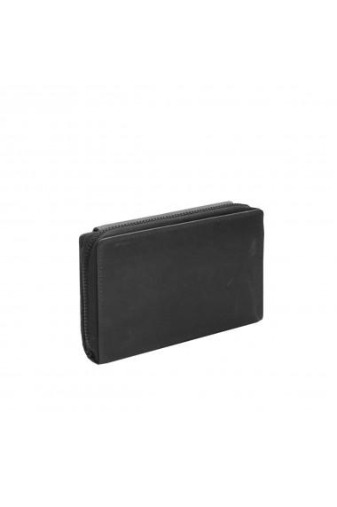 Portofel The Chesterfield Brand cu protectie anti scanare RFID din piele naturala moale neagra Ascot