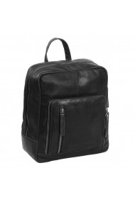 Rucsac unisex The Chesterfield Brand din piele moale neagra Layla