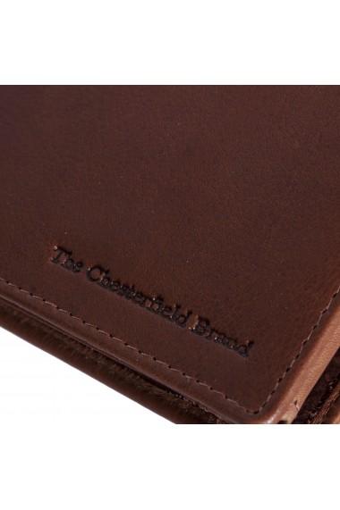 Portofel The Chesterfield Brand cu protectie anti scanare RFID din piele naturala maro coniac Marion