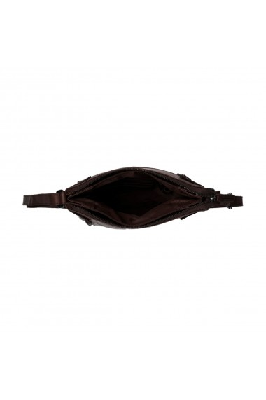 Geanta de umar cu trei compartimente The Chesterfield Brand din piele moale maro Mia