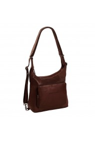 Rucsac si geanta 2 in 1 The Chesterfield Brand piele naturala moale maro Vajen