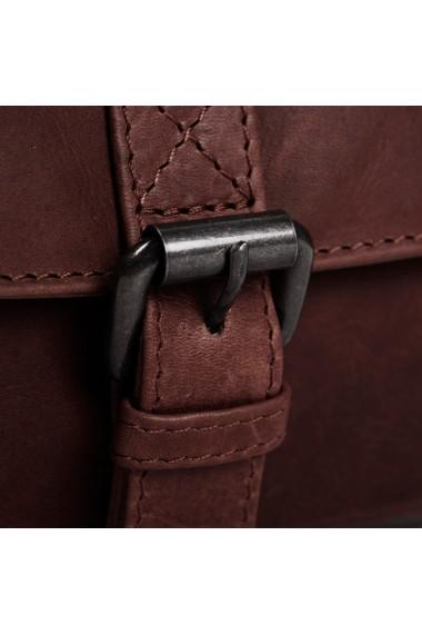 Borseta (marsupiu) de brau unisex The Chesterfield Brand din piele maro model Jax