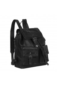 Rucsac The Chesterfield Brand din piele moale neagra Joey