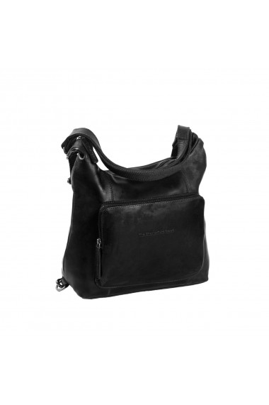 Rucsac si geanta 2 in 1 The Chesterfield Brand piele naturala moale neagra Vajen