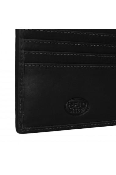 Portofel slim The Chesterfield Brand cu protectie anti scanare RFID din piele naturala neagra Danny
