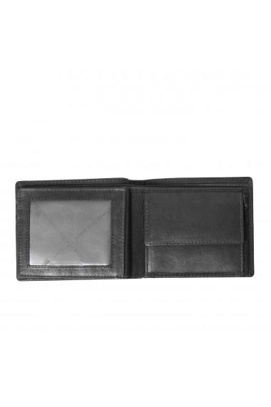 Portofel The Chesterfield Brand cu protectie anti scanare RFID din piele naturala neagra Ralph