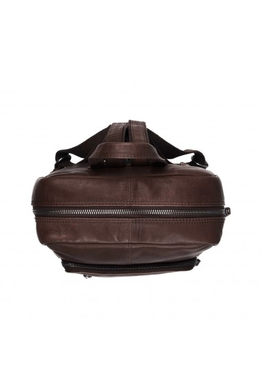 Rucsac unisex The Chesterfield Brand din piele moale maro Layla
